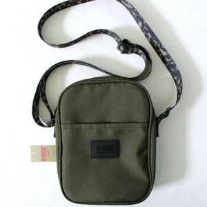 VS Crossbody Bag Olive with Camo Animal Strap
